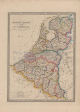 Belgium Holland Vintage Map Wyld 1863