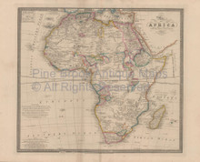 Africa Vintage Map Wyld 1863