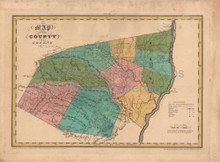 Greene County New York Antique Map Burr 1829
