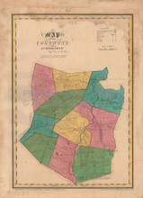 Schoharie County New York Antique Map Burr 1829