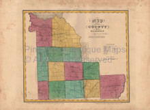 Madison County New York Antique Map Burr 1829