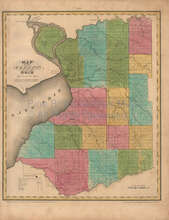 Erie County New York Antique Map Burr 1829
