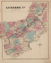 Luzerne County Pennsylvania Antique Map Beers 1873