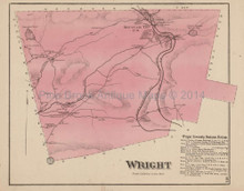 Wright Pennsylvania Antique Map Beers 1873