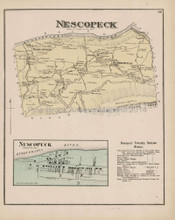 Nescopeck Pennsylvania Antique Map Beers 1873