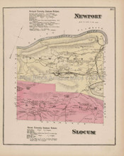 Newport Slocum Pennsylvania Antique Map Beers 1873