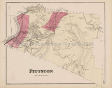 Pittston Pennsylvania Antique Map Beers 1873