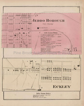 Jeddo Borough Eckley Pennsylvania Antique Map Beers 1873
