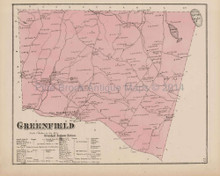 Greenfield Pennsylvania Antique Map Beers 1873
