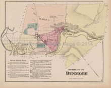 Dunmore Pennsylvania Antique Map Beers 1873
