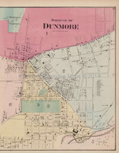 Borough of Dunmore Pennsylvania Antique Map Beers 1873