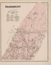 Fairmont Pennsylvania Antique Map Beers 1873