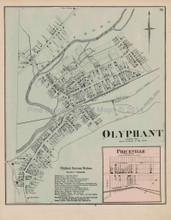 Olyphant Priceville Pennsylvania Antique Map Beers 1873
