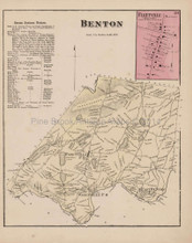 Benton Fleetville Pennsylvania Antique Map Beers 1873