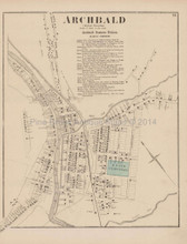 Archbald Pennsylvania Antique Map Beers 1873