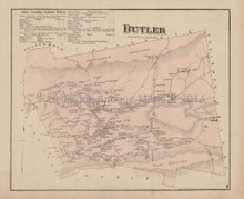 Butler Pennsylvania Antique Map Beers 1873