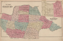 Luzerne County Warrant Map S Pennsylvania Antique Map Beers 1873