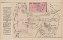 Plainsville Miners Mill Creek Pennsylvania Antique Map Beers 1873