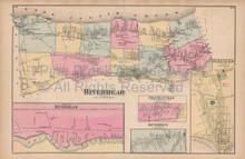 Riverhead Jamesport New York Vintage Map Beers 1873