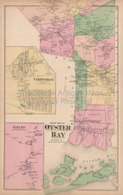 Jericho Farmingdale Bethpage New York Vintage Map Beers 1873