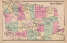 Brookhaven Hauppauge New York Vintage Map Beers 1873