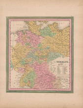 Germany Vintage Map Tanner 1845 Original
