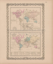 Animal Kingdom Vintage Map Colton 1856
