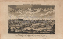 View of Madrid Antique Print Middleton 1780