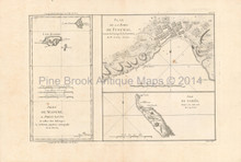 Madeira islands Antique Map Bonne 1788