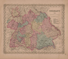 Germany No. 3 Vintage Map GW Colton 1856