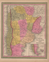 Chile Argentina Vintage Map Mitchell 1847