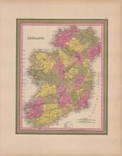 Ireland Vintage Map Mitchell 1847