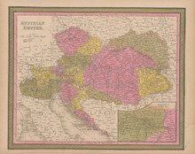 Austrian Empire Vintage Map Mitchell 1847