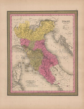 Northern Italy Vintage Map Mitchell 1847