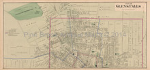 Glens Falls NY Antique Map Beers 1876