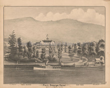 Fort George Hotel NY Antique Print Beers 1876