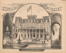 Rockwell House Glens Falls NY Antique Print Beers 1876