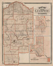 Jasper County Indiana Vintage Map Baskin 1876
