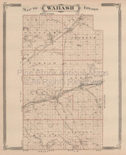 Wabash County Lagro Peru Indiana Vintage Map Baskin 1876