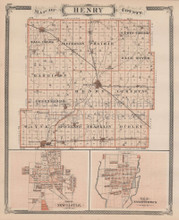 Richmond Dublin Henry County Indiana Vintage Map Baskin 1876