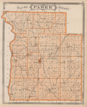 Parke County Terre Haute Indiana Vintage Map Baskin 1876