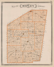Ripley Switzerland County Indiana Vintage Map Baskin 1876