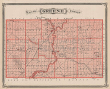 Greene County Sullivan Merom Indiana Vintage Map Baskin 1876