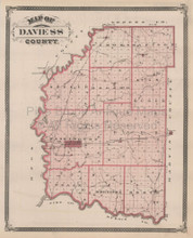 Daviess County Paoli Bedford Indiana Vintage Map Baskin 1876
