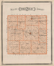 Orange County Indiana Vintage Map Baskin 1876