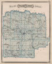 Washington Scott County Indiana Vintage Map Baskin 1876