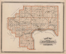 Jefferson County Madison Indiana Vintage Map Baskin 1876