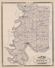Posey County Patoka Indiana Vintage Map Baskin 1876