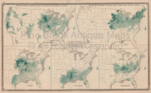 Census Agriculture United States Vintage Map Baskin 1876