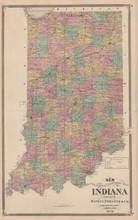 Indiana Vintage Map Baskin 1876